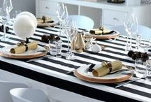 Thanksgiving Table-Black, White & Sparkle / by Apples & Onions
