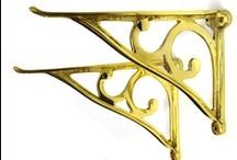 Shelf Brackets Brass