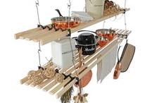 Kitchen Pot & Shelf Racks