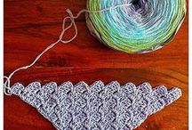 Crochet shawls, cowls, scarves, wraps / Again, this is a collection of unusual, original crochet shawl, scarves and so on. I like to use difficult, seldom seen crochet stitches for them.