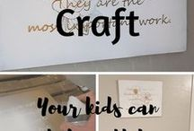 Rainy Day Crafts / Simple crafts you can do specifically with your kiddos when you can't play outside.