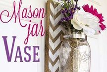 Recycled Glass Jars, Mason Jars, and Tin Cans / You can design almost any glass jar to be useful and decorative if you have the right idea in mind.  If you have a hard time finding that idea, look through this board where there are hundreds of different fun and quick projects to try!