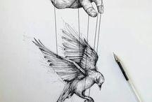 Sketch / Только контуры, добавляющие загадку рисунку.Кто-то не видит в этой художественной форме ничего привлекательного, а кто-то восхищается простыми, но заворачивающими контурами.А что для вас эти силуэты?