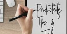 Productivity Tips & Tricks / Whether you are working for yourself or an employer, being productive is important to getting things done! Check out this collection of posts to upgrade your daily productivity!