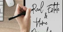 Real Estate & Home Ownership / Are you planning on buying a house or investing in real estate? Make sure you know what you are doing before you take the leap! Check out this collection of pins all about real estate saving and investing!