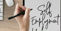 Self-Employment Hacks / Are you self-employed? We could all use a little extra help when it comes to being self-employed-taxes, time management, productivity!