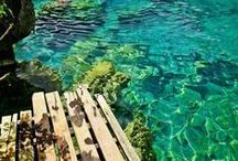 Dust Off the Passport / Vacation, travel possibilities and dreams. I am a water baby so any destination that has crystal blue water is for me.
