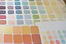 Custom Paint Colors/ColorIQ / Posts about color design, materials, methods from the ColorIQ color consultant training course. www.businessofcolor.com