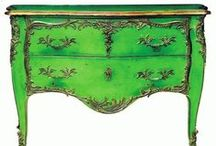 Painted / Painted furniture, furniture makeovers and color inspiration for castoff and outdated furniture turned treasures