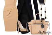 Fashion -  Black/Blush  Black/Taupe  Black/Ivory Black/White / Love the combination of Black & White, Black & Ivory, Black & Blush, Black & Taupe...... / by Carla Huchzermeier