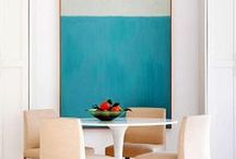 Light and Bright / I love light airy rooms. White walls with scattered color