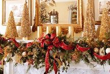 CMAS Decor ~ Classic Red/Gold / GOLD ~ RED ~ CLASSIC ~ PLAID ~ HOLLY ~ POINCETTIAS / by geemarge
