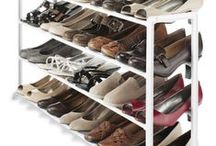 FOR HOME: SHOE STORAGE / The best option for shoe storage even for people with many pairs of shoes. Decoration including pretty framed pictures and flowers. Organize your entrance hall and closet. Shoe racks. Shoe closet. Shelves. Shoe boxes