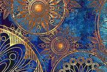 Wallpaper / Colorful designs in wallpaper. Not like grandma had