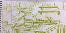 Zeichenkurse / Zeichnungen aus den Zeichenkursen der K3 Kunstschule
