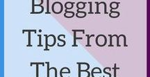 Blogging Tips From The Best / Share your best blogging and social media tips. Please do not spam the board, and try to pin from the board as much as you pin to it. To join, follow my account and then email me at megan@ahintofmeg.com with your Pinterest username.