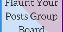 Flaunt Your Posts Group Board / Share all your blog posts, freebies, products and services here. Please do not post anything linking directly to affiliate products (affiliate rich blog posts are fine). Do not spam the board. Try to pin as much from the board as you pin to it. To join, follow my account, then email me at megan@ahintofmeg.com with your Pinterest username. Happy pinning!