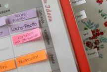 """DIY Essensplanung / Essensplan, Organisation, Was koche ich morgen? ❤Kreativer Buchblog mit Organisationstipps: """"www.melusineswelt.de"""" ~~ natürlich auch auf ✮Instagram und Facebook: @MelusinesWelt ✮ #Essen #Planung #Waskocheichmorgen #menue"""