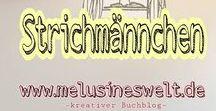 """Strichmännchen ❤ / Strichmännchen sind toll! Strichmännchen zeichnen,  #Zeichnen #Lustig #Bewegung Grüße vom kreativen Buchblog """"Melusines Welt"""" - du findest mich auf facebook & Instagram unter @melusineswelt. Mein Blog: www.melusineswelt.de"""