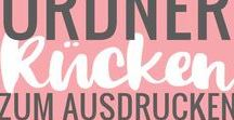 Ordner Freebie / Etiketten für Ordnerrücken #DIY #Freebie #Ordnerrücken #Aktenordner www.melusineswelt.de