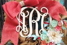 Wreath ideas / by Leslie Henderson