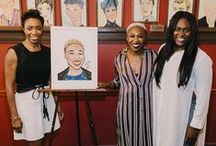 Sardi's Caricatures / Broadway stars being honored with a portrait at Sardi's, the Theatre District institution.