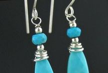 Genuine Sleeping Beauty Turquoise Handmade Artisan Jewelry / One-of-a-kind Artisan Jewelry Designs handmade from Genuine Sleeping Beauty Turquoise creating bead necklaces, nugget bracelets and turquoise bead earrings, focal turquoise pendants and stone cabochon pendant designs.