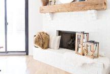 Fireplace Ideas / Fireplace | DIY Fireplace | Fireplace Remodel | Fireplace Decor | Fireplace Redo| Brick Fireplace| Painted Brick Fireplace