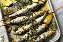 """Greek Seafood Recipes / A good quality and quantity of Seafood dishes, is one of the basic reasons why the famous Greek-diet is considered to be so healthy. Here you will find truly Greek Seafood Recipes. Like grilled fish with """"ladolemono"""" dressing (olive oil and lemon dressing), hearty fish stews and soups, as they are traditionally made in the Greek islands and many many more."""