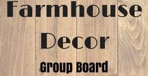 **Farmhouse Decor Group Board / **FARMHOUSE DECOR PINS**  RULES: Pin for Pin, no limit, and No spamming or you will be removed. WANT TO JOIN? Follow me AND the Board. Then either send me a message or comment on this pin: https://www.pinterest.com/pin/846536061180908526/