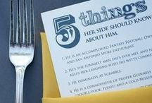 Rehearsal Dinner / The rehearsal dinner is the perfect place for the groom to leave a personal mark on the wedding festivities. Ideas for planning the event, attire, invites, food/drink and budgeting can be found here. / by The Man Registry