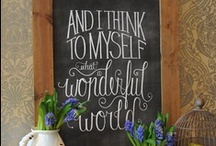 chalkboards / by Emily Gideon