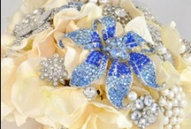 Blue Wedding / Our favorite blue decor, jewelry, accessories and ideas for weddings! Every wedding needs something blue! Blue Petyl creates AMAZING couture wedding bouquets in your colors, including custom brooch bouquets, jeweled flower bouquets, and button bouquets.  Visit us at www.bluepetyl.com. / by Blue Petyl