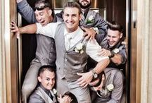 The Groom + His Crew / We love these amazing photos ideas that show the groom + groomsmen enjoying the hell out of each other on the wedding day. / by The Man Registry
