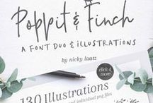 Gorgeous Fonts / An addiction to all things type, in pinterest form.