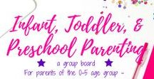 Infant, Toddler, & Pre-School Parenting / A group board hosted by Grandi of My Aggrandized Life.  Helpful tips for parenting infants and toddlers: Bedtime routines, potty training, separation anxiety, breastfeeding, healthy meals, developmentally appropriate practices, Montessori, child care, preschool and toddler programs, self care - find all of your help and advice here!  To join, please follow me and then send a message requesting to be added as a contributor.  All pins must be vertical and related to parenting children ages 0-5.