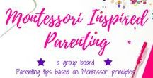 Montessori Inspired Parenting / A group board hosted by Grandi of My Aggrandized Life.   All the best information on how to create a Montessori environment at home.  Implement the Montessori Method at home and at school.  Tips on presenting a Montessori lesson, 3-part lesson, practical life, sensorial, culture, language, math - everything Montessori!  To join, follow me first and then send me a message requesting to be added as a contributor. Pins must be vertical and be based on Montessori principles.