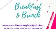 Breakfast and Brunch / Quick easy school day breakfast ideas, healthy breakfast, quick healthy breakfast, kids breakfast ideas, breakfast ideas for picky eaters, school day breakfast ideas - everything fun breakfast here!  Time-saving breakfast and brunch ideas that will work on the busiest mornings for busy moms! You're sure to find a budget-friendly breakfast your kids will eat on this board.