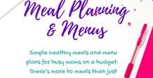 Meal Planning for Busy Moms on a Budget / Simple healthy meals and menu plans for busy moms on a budget.  There's more to meals than just cereal and pizza!  Find meal plans for busy moms on a budget, 5-Ingredient Meals, Slow Cooker Dump Recipes, meal plans for moms of toddlers, meal plans for school days, meal plans for busy weeknights, meal plan for vacation, meal planning for picky eaters, all the best meal plans for a week, meal plans and recipes for a month - even breakfast, lunch, and dinner recipes you'll love!