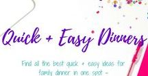 Quick + Easy Family Dinner / Find all the best quick + easy ideas for family dinner in one spot - the perfect time saver for busy moms with busy kids! Family Dinner Ideas, Weeknight Dinner Ideas, Crock pot meals, quick family dinner ideas, healthy family dinners, fun dinner ideas, date night dinner, special occasion dinner, dinner parties, dinner recipes, and 5-Ingredient meals can be found here!
