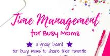 Time Management for Busy Moms / This is a group board hosted by Grandi of My Aggrandized Life for busy moms to share all the best time management tips for busy families.  Time management tips for working moms, stay at home moms and work at home moms.  If you would like to join the board, please follow me and then send a request  to be added as a contributor.  All pins should be related to time management and be vertical.  Happy pinning!
