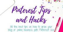 Pinterest Tips and Hacks / All the best tips on how to grow your blog or online business with Pinterest! Use these tips to master Pinterest & make money with your blog or online business by using Pinterest.