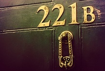 "Sherlock Holmes / ""The name is Sherlock Holmes, and the address is 221B Baker Street."" / by Sarah Clement"