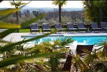 Infrastructure  / Piscine chauffée de 120m², espace détente avec sauna et jacuzzi extérieur, cabine de massage, parc arboré... Un hôtel prompt au repos et à la relaxation.