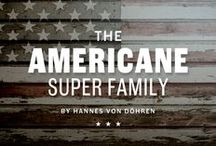 "Americane / ""It's all about Soul!"" – Strong, decided and edgy. The Americane super family is inspired by the old wood type specimen books. http://www.myfonts.com/fonts/hvdfonts/americane/"