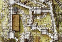 D&D Castle Maps