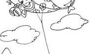 Coloriages / Les Dessins Cerfs-Volants à colorier sur le web