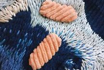 Textile structures. Strukturen. / A mix of textiles to admire or to kickstart research, ancient and contemporary crafts.