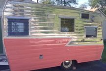 "My Dream Trailers / I have a 1966 Shasta 1500 that I am restoring, or I should say..making my own.  My husband (who was formally NOT on board with my project)  had her painted/polished for my birthday!!  Her name is ""Miss Shasty"". / by Jane Thixton-Gallant"