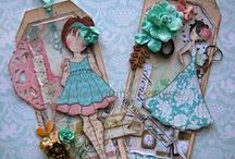 Tags and Julie Nutting Stamps / All kinds of tags and Julie Nutting Stamps / by Susan L. Garvin